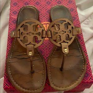 Tory Burch Royal Tan Miller Sandals
